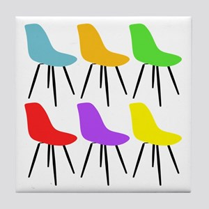 Mid Century Modern Chairs Tile Coaster