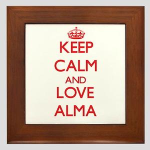 Keep Calm and Love Alma Framed Tile