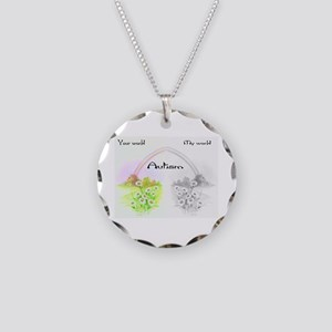 Your World My World Necklace Circle Charm