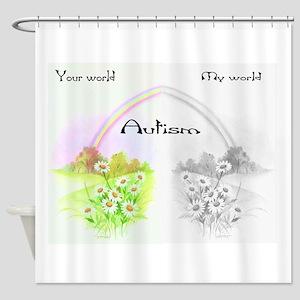 Your World My World Shower Curtain