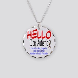 Lost Button Necklace Circle Charm