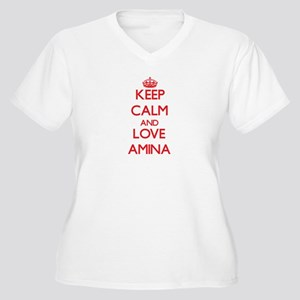 Keep Calm and Love Amina Plus Size T-Shirt