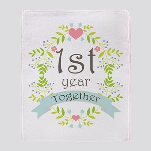 1st Year Marriage Throw Blanket