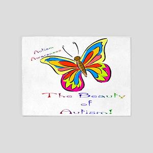 beauty of autism 5'x7'Area Rug