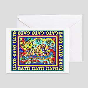Gato Cat Design Greeting Cards