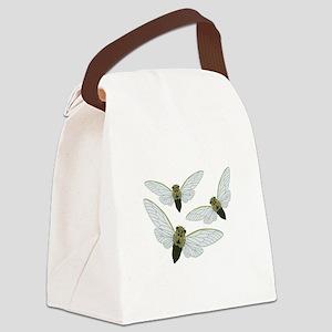 Three Cicadas Canvas Lunch Bag