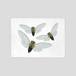 Three Cicadas 5'x7'Area Rug