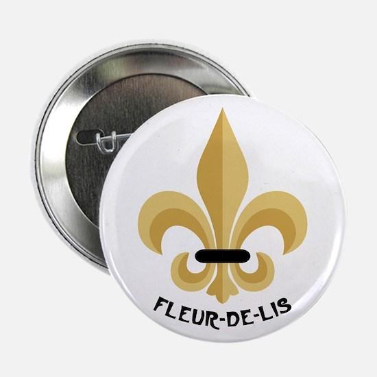 """New Orleans Fleur De Lis 2.25"""" Button"""
