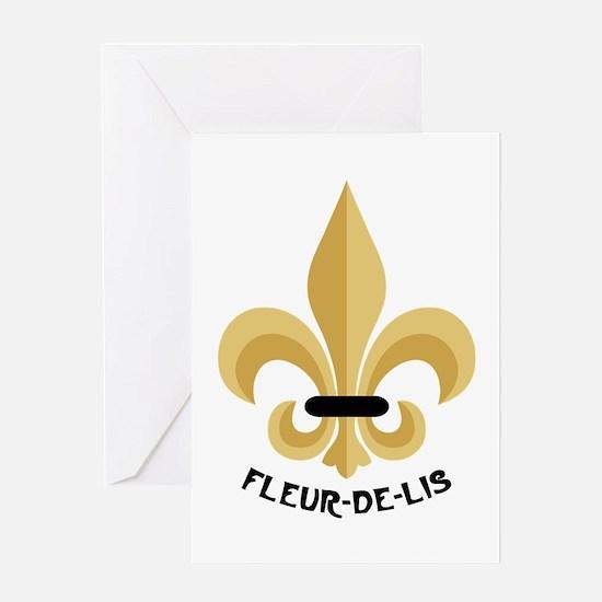 New Orleans Fleur De Lis Greeting Cards