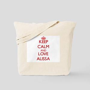 Keep Calm and Love Alissa Tote Bag