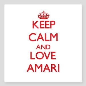 """Keep Calm and Love Amari Square Car Magnet 3"""" x 3"""""""
