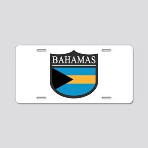 Bahamas Flag Patch Aluminum License Plate
