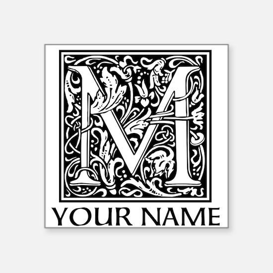 Custom Decorative Letter M Sticker