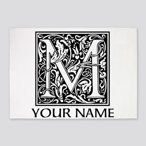Custom Decorative Letter M 5'x7'Area Rug