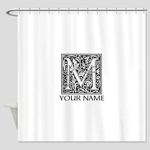 Custom Decorative Letter M Shower Curtain