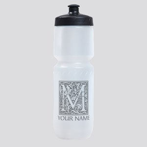 Custom Decorative Letter M Sports Bottle