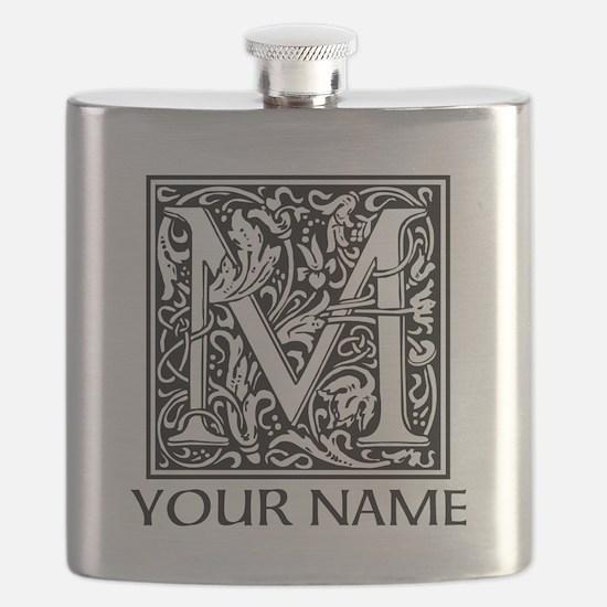 Custom Decorative Letter M Flask