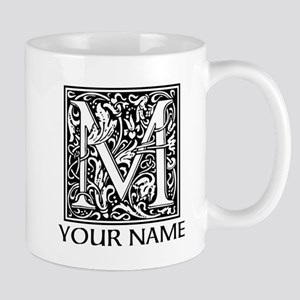 Custom Decorative Letter M Mugs