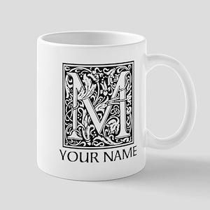 Custom Decorative Letter M Mugs