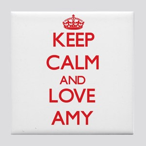 Keep Calm and Love Amy Tile Coaster