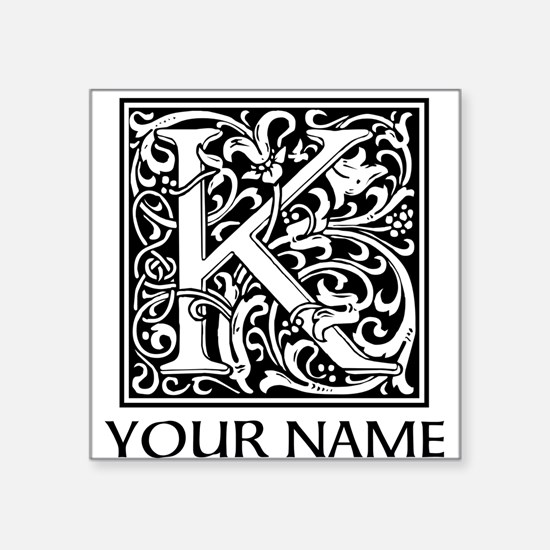 Custom Decorative Letter K Sticker