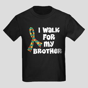 Autism Walk For Brother Kids Dark T-Shirt