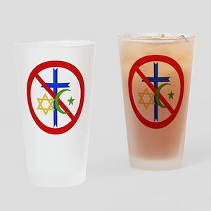 No Religion Drinking Glass