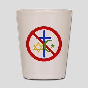 No Religion Shot Glass