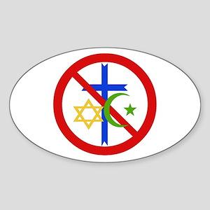 No Religion Sticker
