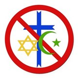 Anti religion Round Car Magnets
