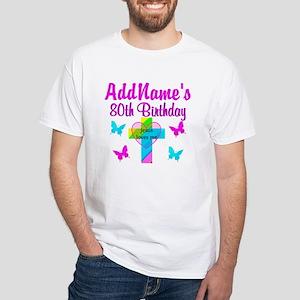 80TH JESUS LOVES White T-Shirt