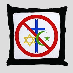 No Religion Throw Pillow