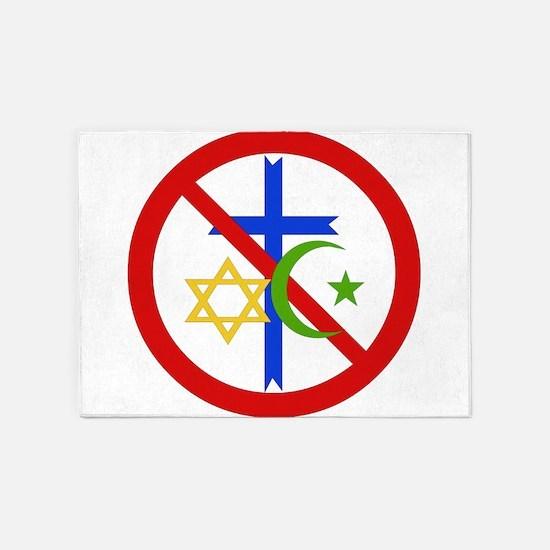 No Religion 5'x7'Area Rug