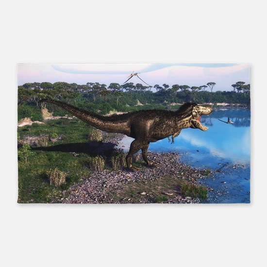 Tyrannosaurus 2 3'x5' Area Rug