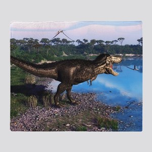 Tyrannosaurus 2 Throw Blanket