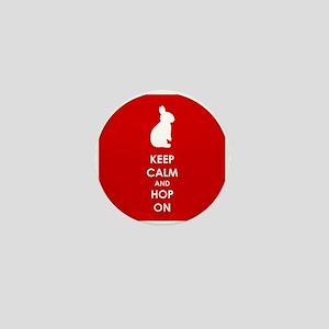 Keep Calm and Hop On Mini Button