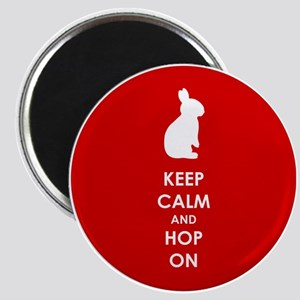 Keep Calm and Hop On Magnet