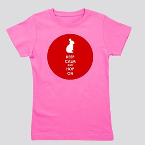 Keep Calm and Hop On Girl's Tee