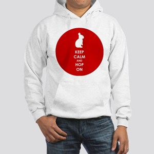 Keep Calm and Hop On Hooded Sweatshirt
