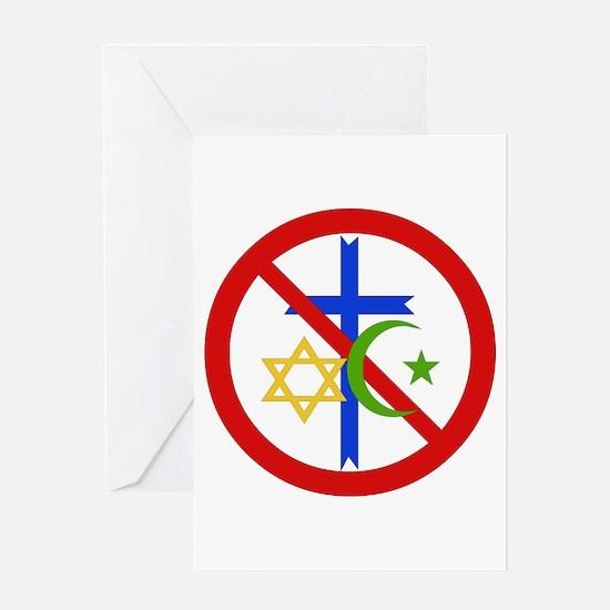 No Religion Greeting Cards