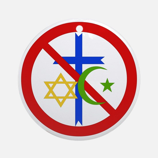 No Religion Ornament (Round)