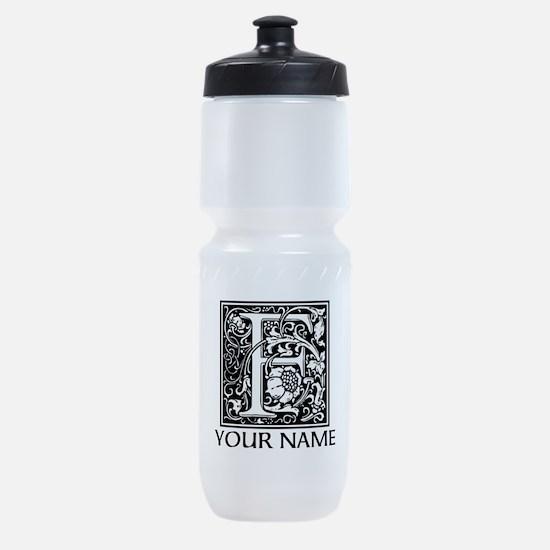 Custom Decorative Letter F Sports Bottle