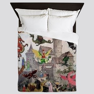 There Be Dragons Queen Duvet