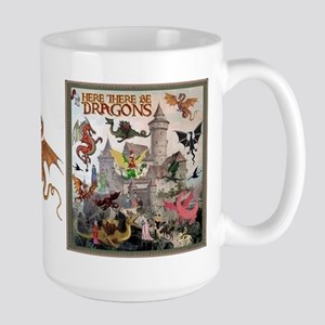 There Be Dragons Large Mug Mugs