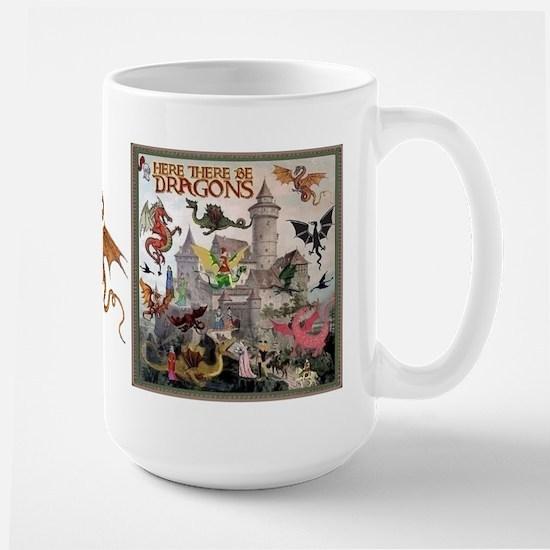 There Be Dragons Large Mug Mugs
