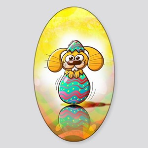 Nice bunny being born from a beauti Sticker (Oval)