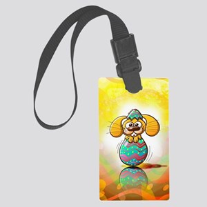 Nice bunny being born from a bea Large Luggage Tag