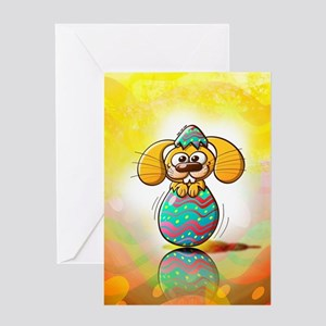 Nice bunny being born from a beautif Greeting Card