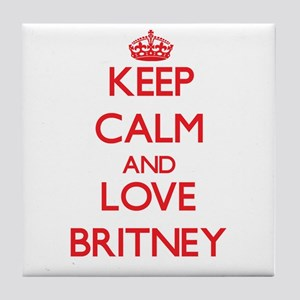 Keep Calm and Love Britney Tile Coaster