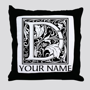 Custom Decorative Letter D Throw Pillow